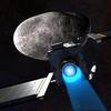 Vue d'artiste de l'impacteur DART s'approchant de l'astéroïde Didymos