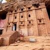 Eglise éthiopienne creusée dans la paroi rocheuse